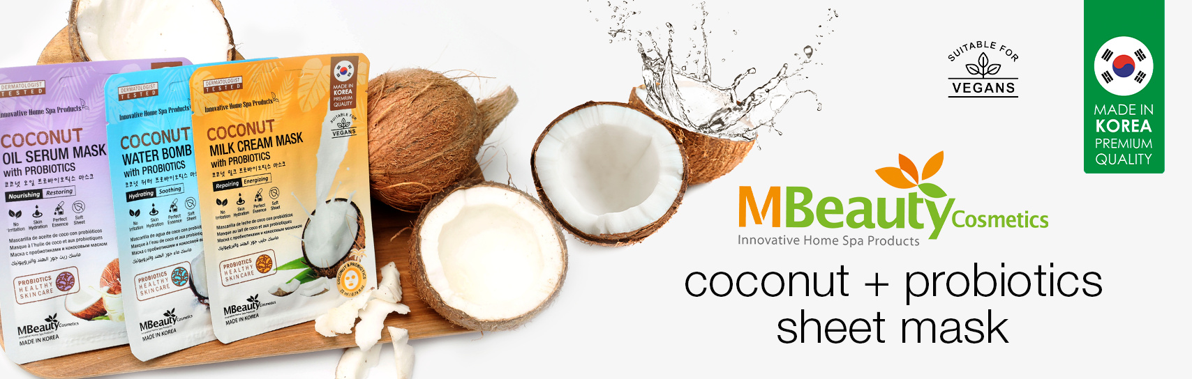 [MBeauty - coconut masks - products]