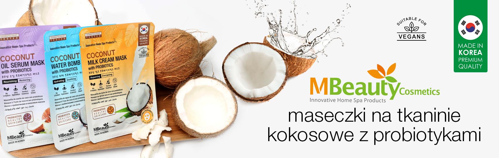 [MBeauty - maseczki kokosowe - produkty]