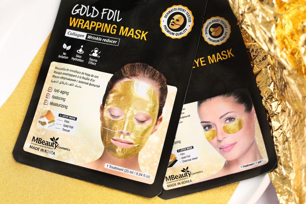 MBeauty Cosmetics - złota maska i płatki na folii