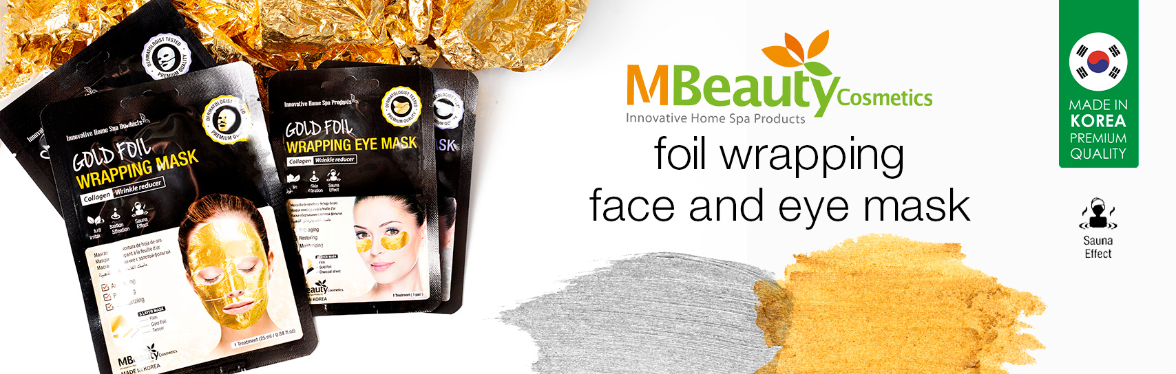 [MBeauty - foil wrapping face masks - products]