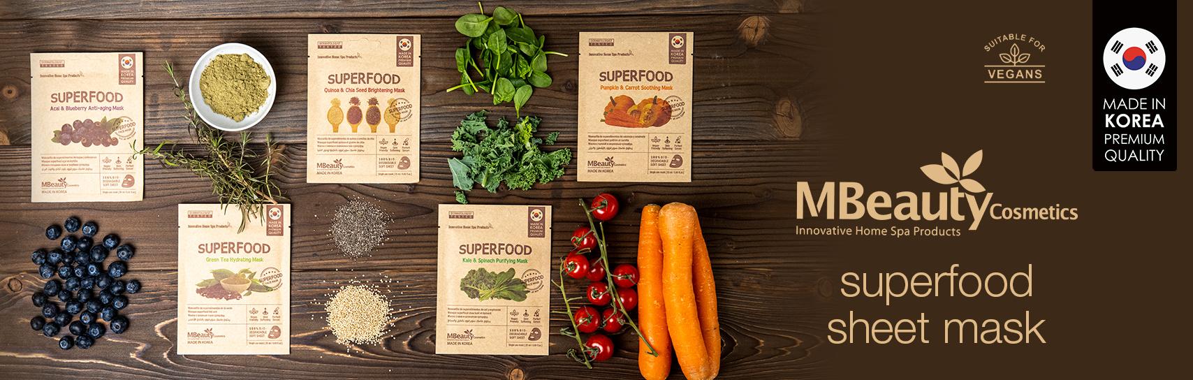 [MBeauty - superfood masks - products]