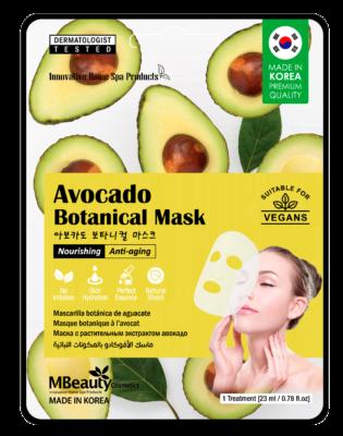 Avocado botanical sheet face mask