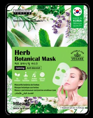 Herb botanical sheet face mask