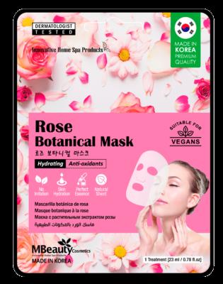 Rose botanical sheet face mask