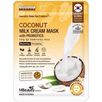 Odżywcza maska z mleczkiem kokosowym iprobiotykami natkaninie