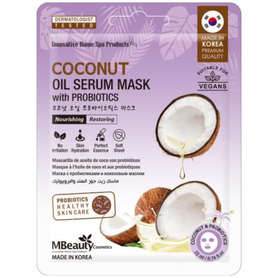 Odbudowująca maska-serum z olejkiem kokosowym iprobiotykami natkaninie