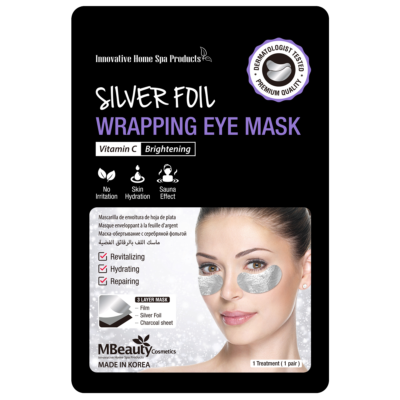Silver foil wrapping eye mask