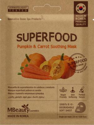 Kojąca maseczka natkaninie Superfood – dynia imarchewka